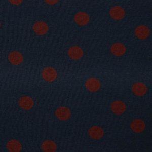 Jacquard Punkte, rot auf blau