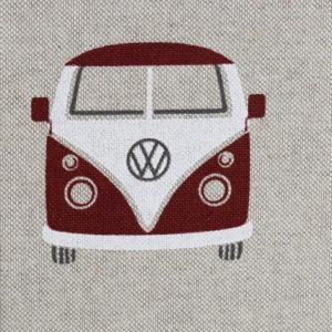 Emilio, Leinenoptik, VW-Bullis, rot