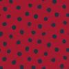 Schwarz Punkte auf rot, French Terry
