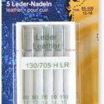 YKK 515479 Nähmaschinen-Nadeln Flachkolben LEDER 130/705 H-LL sortiert, 5 Stück