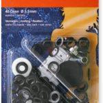 YKK 83488 Ösen und Scheiben 5,5 mm bronze, 40 Stück