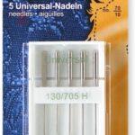 YKK 515485 Nähmaschinen-Nadeln Flachkolben UNIVERSAL 130/705 H 70er, 5 Stück