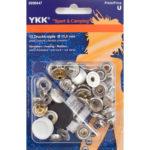 YKK Sport und Camping Druckknöpfe silber 15mm