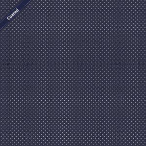 Beschichtete Baumwolle, gepunktet Navy